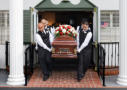 Mountain View Colonial Mortuary Funeral Photography - Casket Leaves