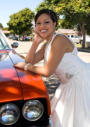 SSan Jose Wedding Photography - Bride with Classic Car 20